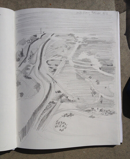 Drawing Event at the US-Mexico Border, Border Patrol-led tour