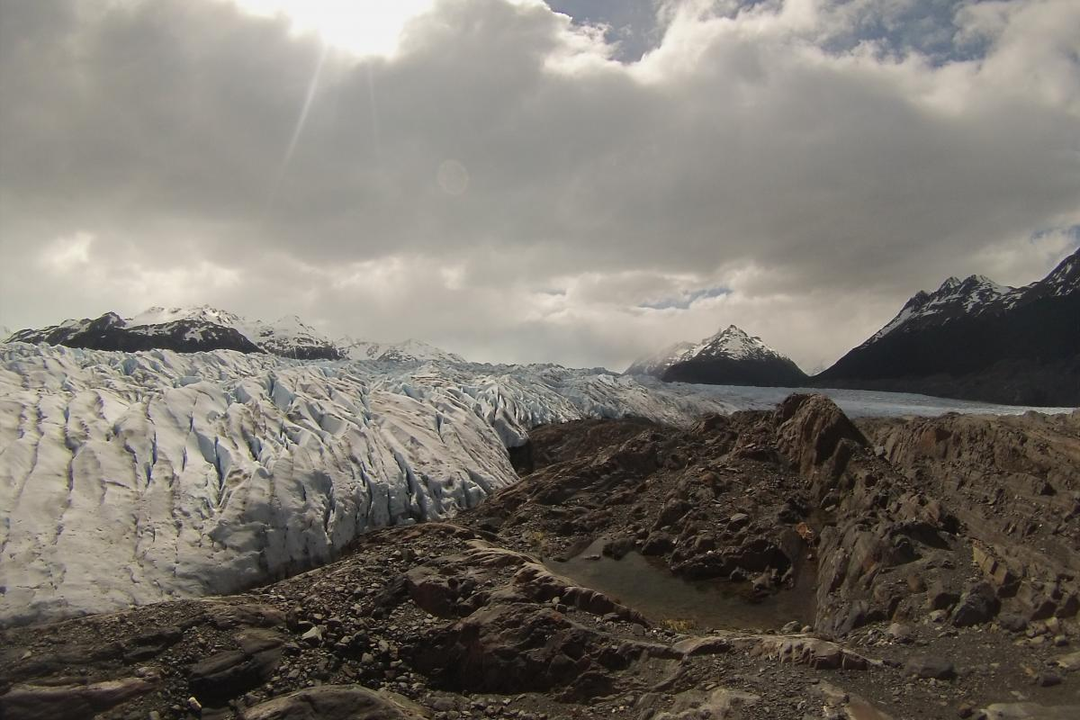 Grey Glacier in Torres Del Paine National Park in Southern Chile
