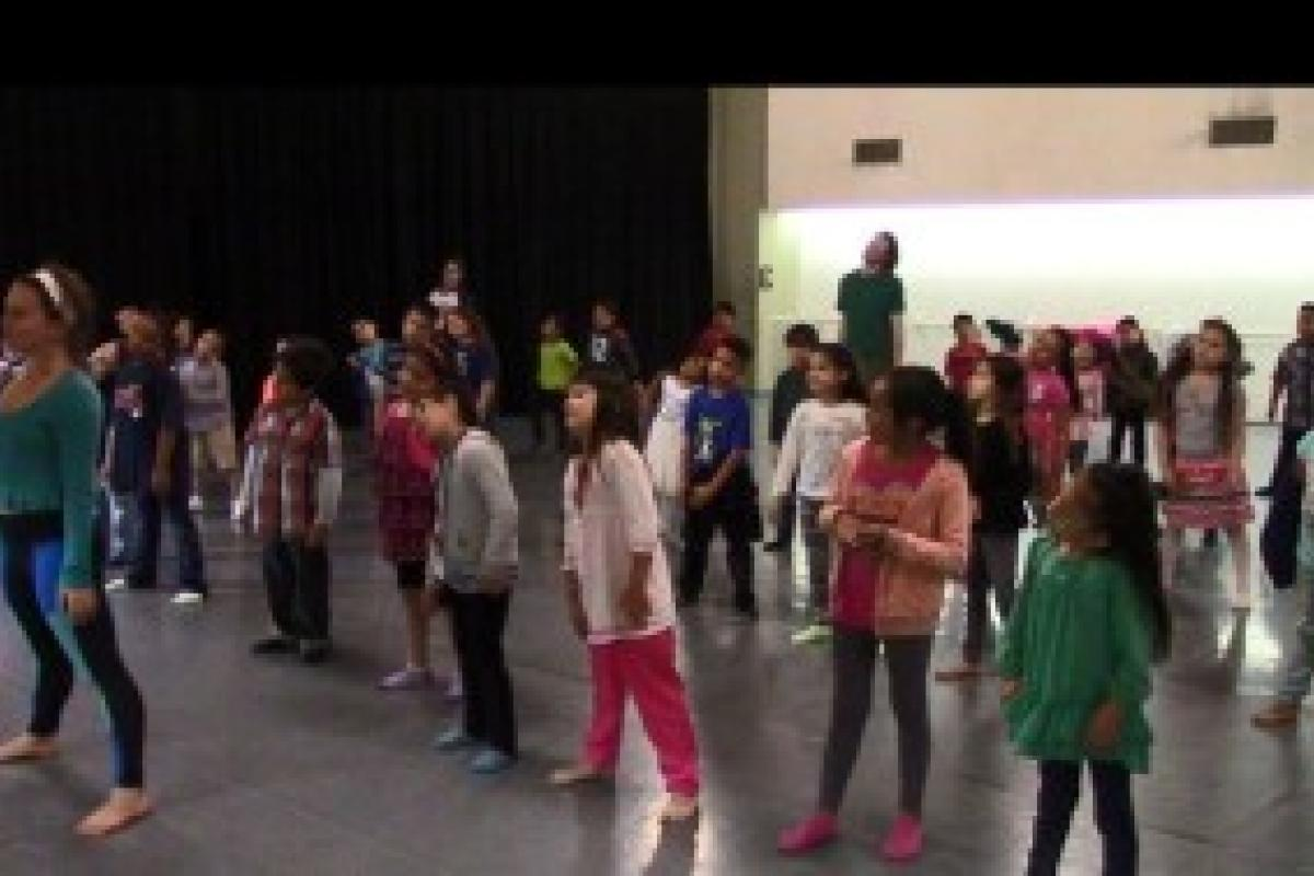 Kids at dance workshop