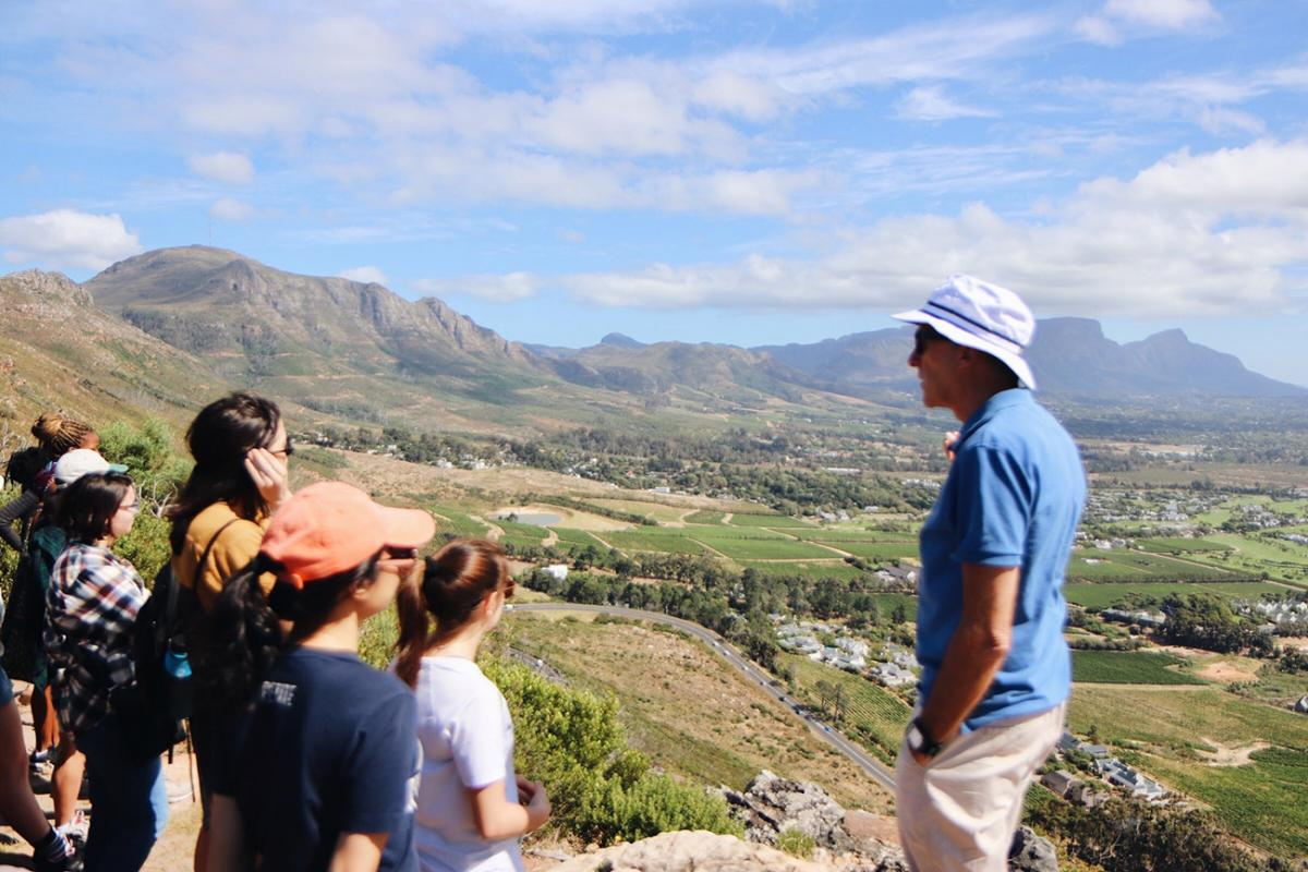 Dank, First lecture of the semester atop Table Mountain learning about Cape Town's fynbos ecosystem