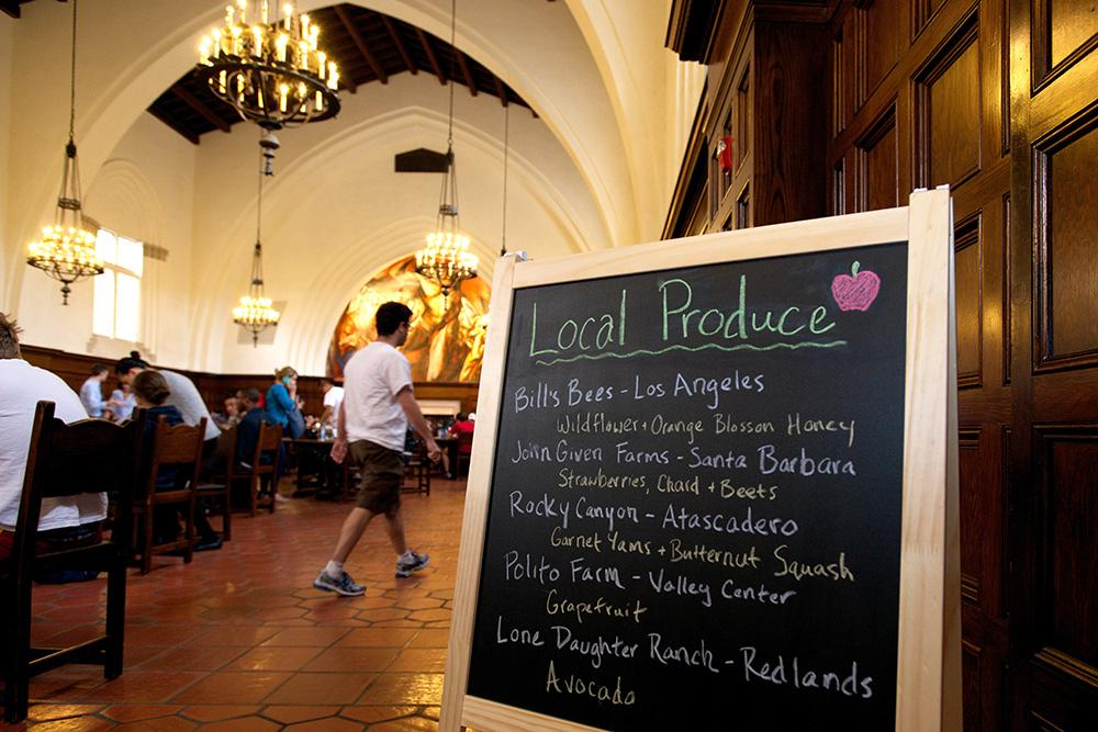 Local produce at Frary Dining Hall