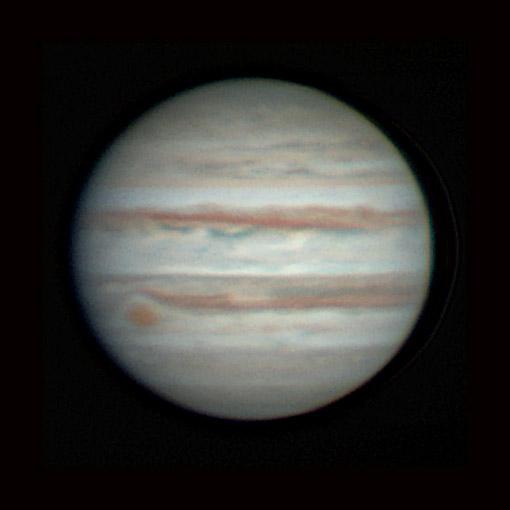 Jupiter as viewed from the Pomona College Brackett Observatory