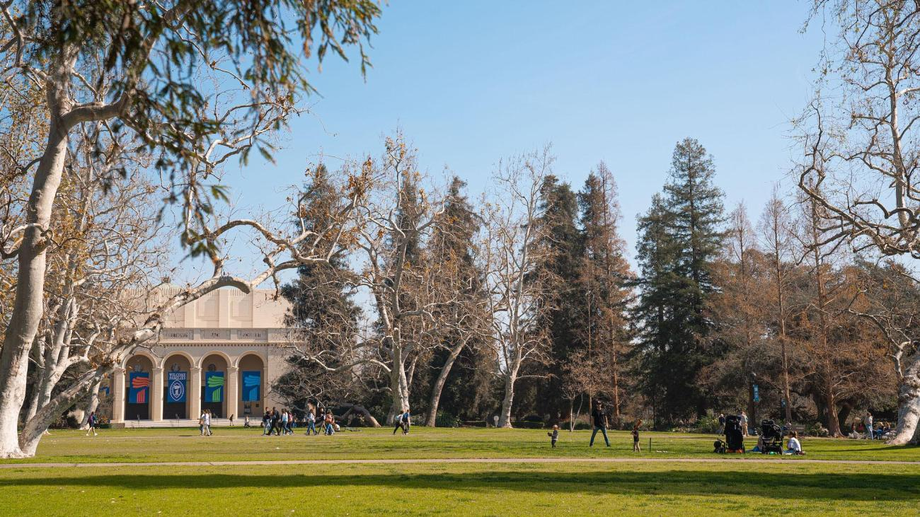 Marston Quad at Pomona College.