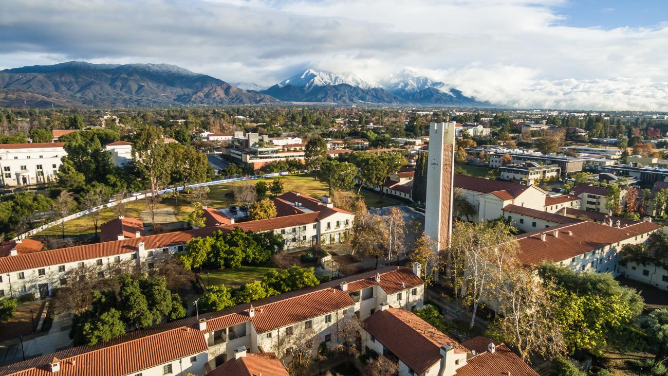 Pomona College, Aerial campus shot