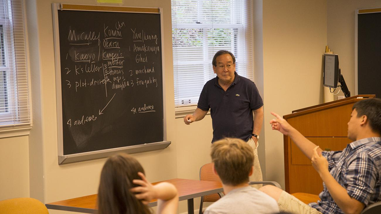 In class with Professor of History Sam Yamashita