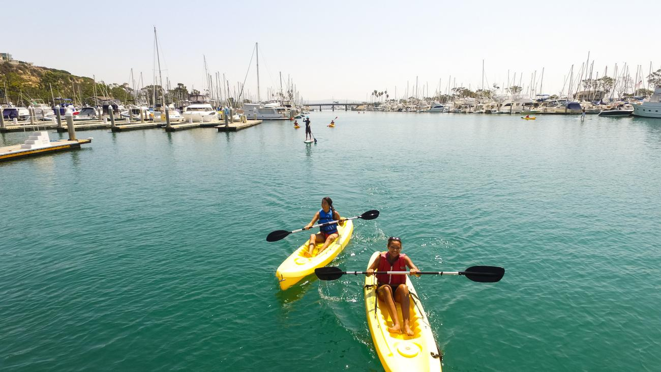 Experience kayaking on tranquil waters.