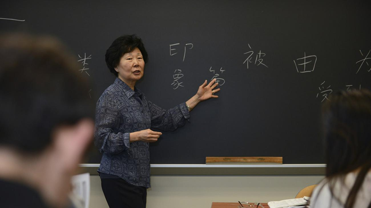 In class with Professor Sharon Hou