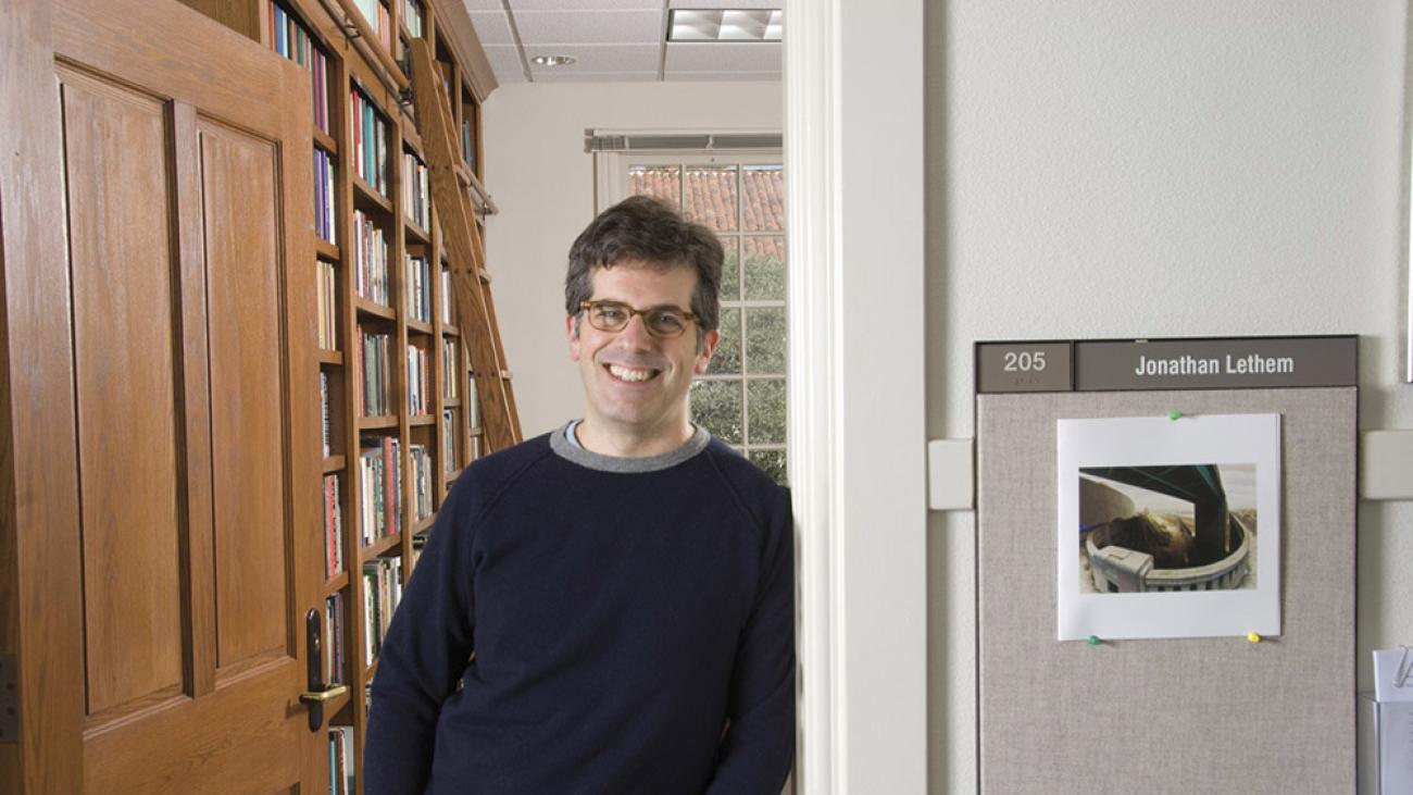 Novelist and Professor Jonathan Lethem at his office