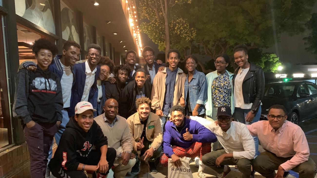 Mathematics Professor Edray Goins hosted a dinner for African American freshmen who have expressed an interest in majoring in the mathematical sciences