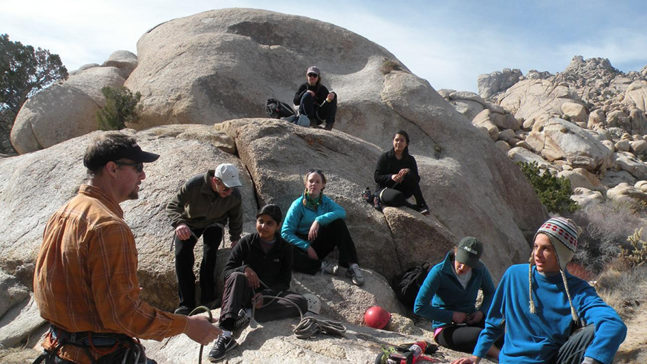 OEC trainings include climbing, wilderness first aid, winter mountaineering, and more.