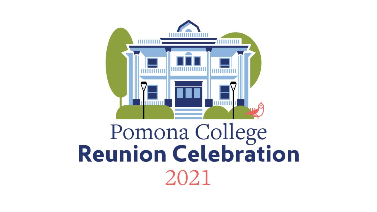 Pomona College Reunion Celebration 2021 - an illustrated image of Seaver House
