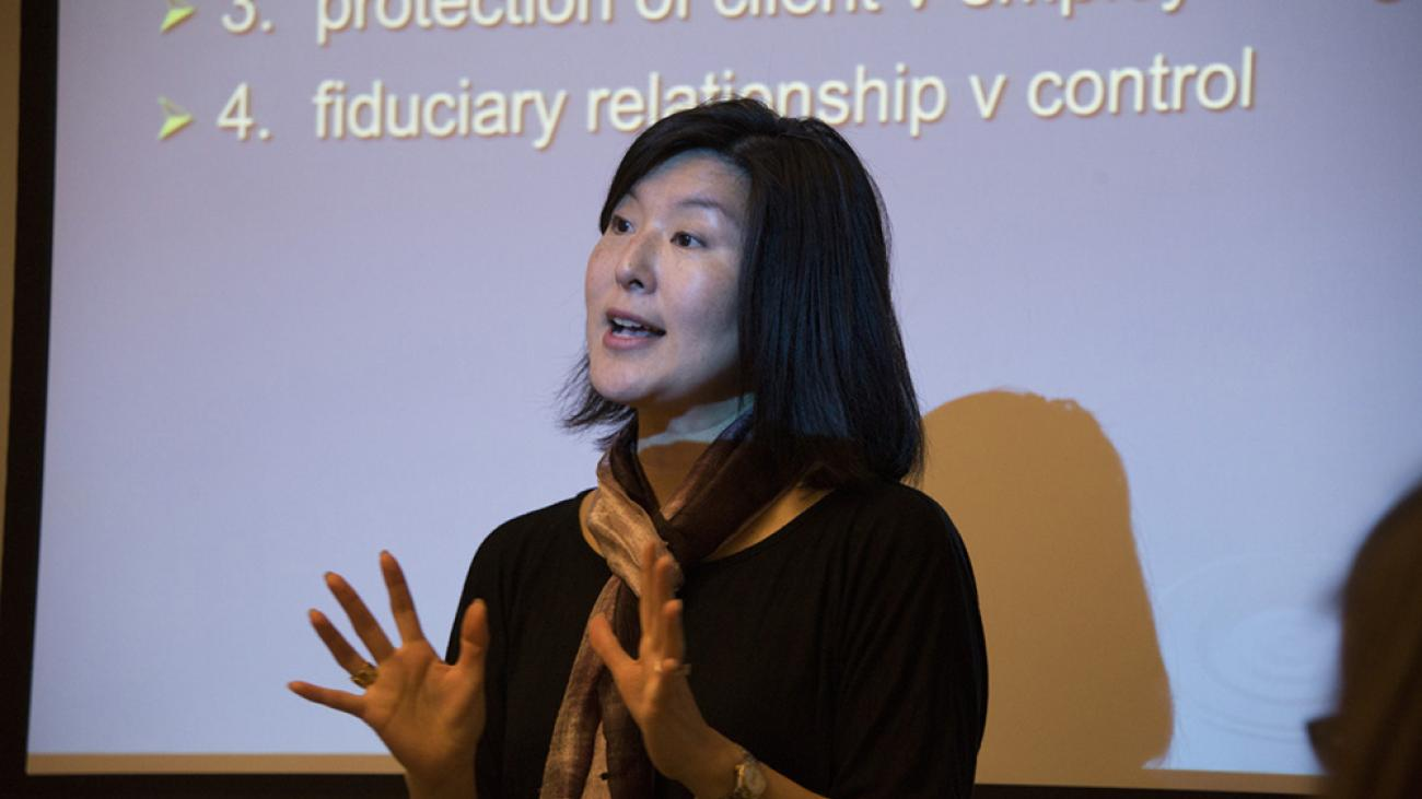 In class with Professor Sharon Goto