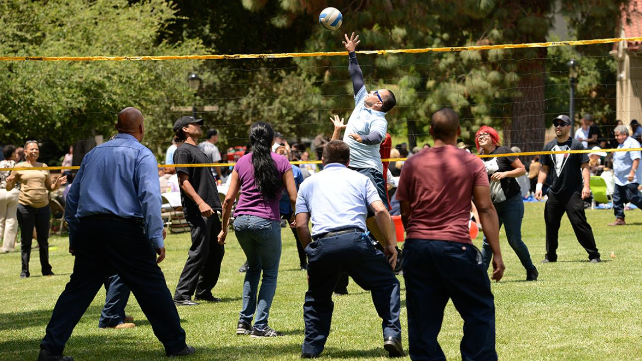 Staff picnic at Pomona College in 2014